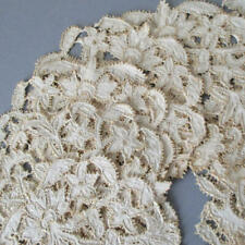 8 Antique RICHELIEU LACE Doilies Cutwork Hand Embroidered w Picots MUSEUM Tags