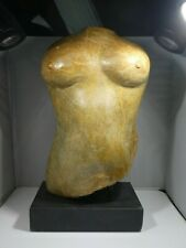 IMPOSING HAND CARVED MODERNIST NUDE MARBLE / STONE FEMALE TORSO UNSIGNED