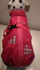 Regenmantel Hundemantel M Hunde Herzen pink Malteser Dackel kleine Hunde