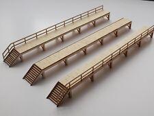 Carriage Maintenance Platforms (REAL WOOD!) 00 scale- Free P&P- versatile model