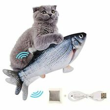 Moving Fish Cat Toy, Electric Flopping Cat Kicker Fish Toy, Catnip Fish Toys for