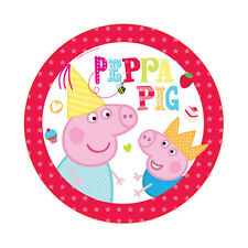 "40 Peppa Pig RED Birthday Party Small 7"" Dessert Paper Plates"