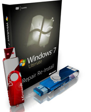 MSI Windows 7 Ultimate Repair Reinstall Recovery Boot USB + Driver USB 32 Bit