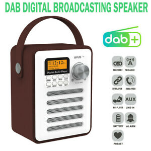 Portable DAB + Digital Stereo Bluetooth FM Radio Audio MP3 Player Rechargeable