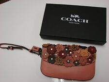 "COACH NWT 1941 ""WRISTLET, CLUTCH"" WITH TEA ROSE, MELON PINK FLORAL"