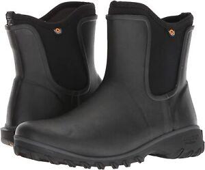 Bogs Womens Sage Rubber Sauvie Slip-On Waterproof Boots 72203 Black