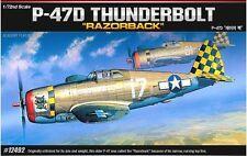 Academy 1/72 Plastic Model Kit P-47D RAZORBACK 12492 NIB Military Aircraft