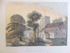 1869 buone dimensioni di stampa; Santa Trinità, Penn, vicino a BEACONSFIELD, Buckinghamshire