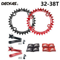 DECKAS 32-38T 104BCD Fahrrad Round Oval Kettenblatt + Kurbel + Platz Schrauben
