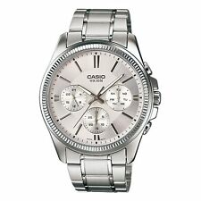 Casio MTP-1375D-7 New Original Analog Silver Stainless Steel Mens Watch MTP1375D