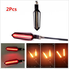 2X Dual Colors 24 LED Motorcycle Brake Taillight Flasher Strobe Turn Signal Lamp