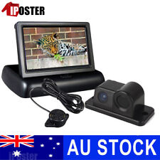 "Car Reverse Parking Camera With Radar Sensor &4.3"" Foldable LCD RearView Monitor"