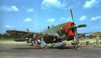 US ARMY AIR FORCE P-47 FIGHTER COLOR PHOTO WW2 WWII World War Two Air Corps