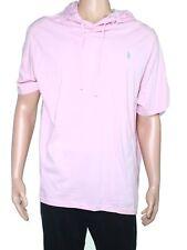 Polo Ralph Lauren Mens Shirt Pink Size 2XL Short Sleeve Hooded Tee $49 #368
