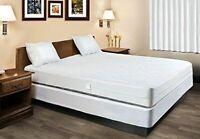 100% Waterproof Hypoallergenic Fabric Mattress Encasement Bed Bugs Proof