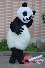 Long Fur Chinese Panda Mascot Costume Suits Cosplay Party Dress Outfits Carnival