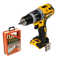 DeWalt DCD796 18V Brushless XR Combi Drill With 19 Piece HSS Twist Drill Bit Set