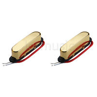 2pcs Single Coil Electric Guitar Neck Pickups For Fender Telecaster Parts Gold
