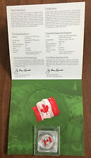 2015 CANADA $25 COLORIZED SILVER FLAG WITH ROYAL CANADIAN MINT PACKAGING