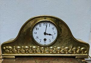HAC Art Nouveau Brass Mantle Clock