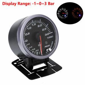 2.5'' 60mm Pointer LED Car Turbo Boost Gauge Bar Pressure Meter Step Motor