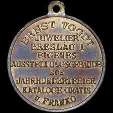 BEFREIUNGSKRIEGE: Juwelier Ernst Vogdt 1913. JAHRHUNDERTHALLE BRESLAU / WROCŁAW.