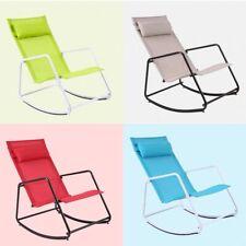 Outdoor Patio Furniture Garden Folding Luxury Rocking Chair Blue