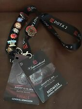 6 Dota 2 Ti6 Emoticharm Set Lanyard+ 2 Pins International Championships Midweek