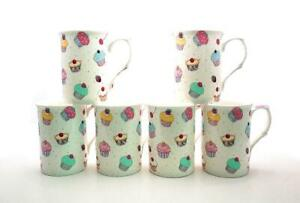 Fine Bone China Fairy Cupcakes 10Oz Mugs X 6