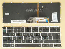 NEW for HP ENVY 4-1000 6-1000 Keyboard Nordic Scandinavian BACKLIT Silver Frame