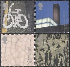 GB 2000 Millennium/Bikes/Lowry/Art/Painting/Tate/Cycling/Buildings 4v set n22487