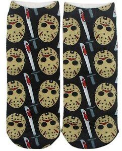 Classic Horror Movie Jason Mask Themed Ankle Socks