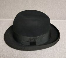 Vintage Authentic Mens Derby Bowler 3X BEAVER STETSON Never WORN 7 in Box
