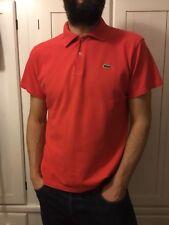 Polo Lacoste manga corta camiseta talla XL Rojo Sport Top Casuals