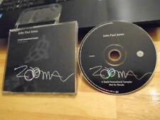 RARE PROMO John Paul Jones CD Zooma sampler LED ZEPPELIN King Crimson Squeeze !