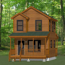 16x20 Tiny House -- 586 sq ft -- PDF FloorPlan -- Model 9C