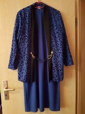 Damen Kleid Gr. 44 2-teilig festlich blau