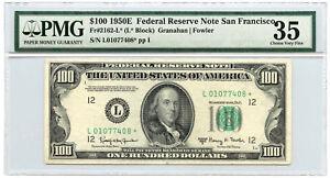 1950E $100 Federal Reserve Star Note San Francisco PMG Choice VF 35 Fr #2162-L*