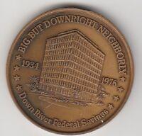 (T) Token - Michigan - Down River Federal Savings - 38 MM Bronze