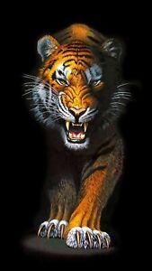 FIERCE TIGER QUILT PANEL * ANIMAL KINGDOM * FREE POST * DIGITAL PRINT * 🐯