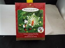 Hallmark Ornament 2000 Mickey'S Bedtime Reading Mickey & Co. Nib