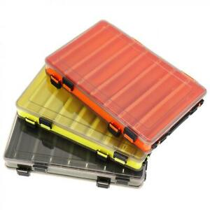 14 Compartments Double Sided Fishing Lure Tackle Storage Box Case Container AU
