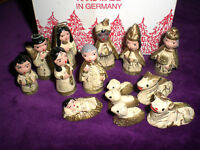 STEINBACH Miniature NATIVITY SET / 14 pcs. Germany / Vintage