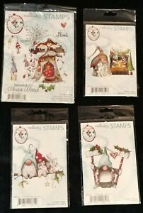 LDRS Polkadoodles Christmas GNOME Cling Stamp sets