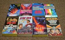 STAR TREK 8 books BEST DESTINY, THE FINAL FRONTIER, THE VOYAGE HOME, T-H-E- LOSt