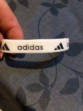Adidas black & white 100% silicone wristband