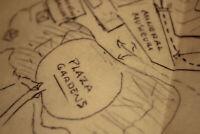 Walt Disney Personally Drawn Disneyland Map Mine Train Stagecoach 1959 2005