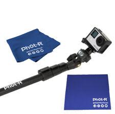 Phot-R Extendable Non-Slip Soft Handle Monopod GoPro Microfibre Chamois Cloth