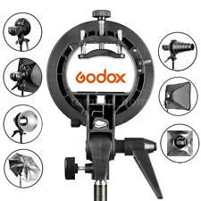 Godox S-Type Bracket Bowens Mount Holder for Speedlite Flash Snoot Softbox Black