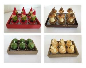 Set Zwerg Zwerge Teelicht Teelichter Geschenk Deko Artikel Kerzenhalter Box